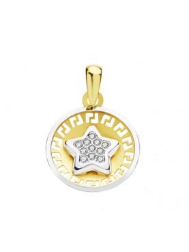 Colgante oro medalla estrella
